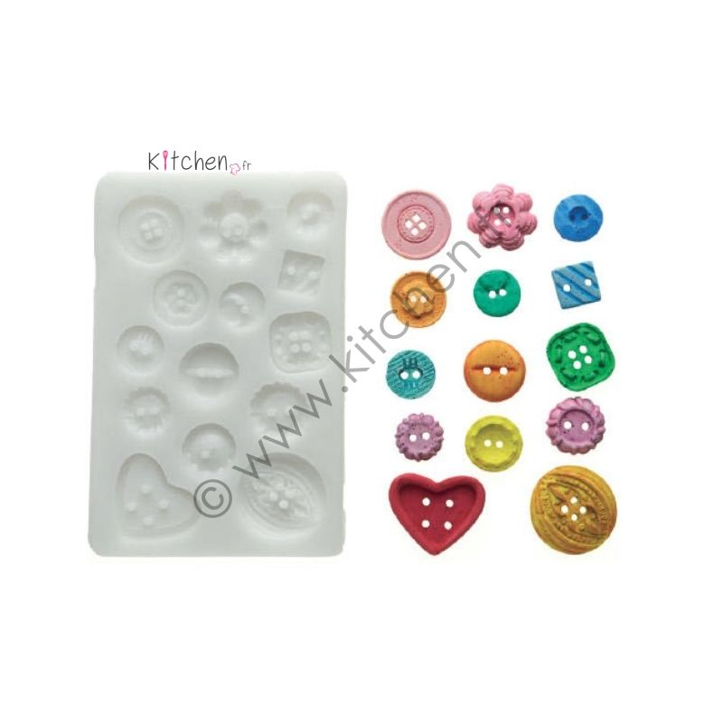 Moule silicone boutons 26 mm