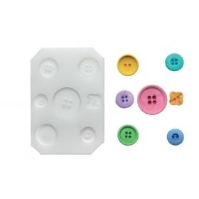 Moule silicone boutons ronds 28 mm