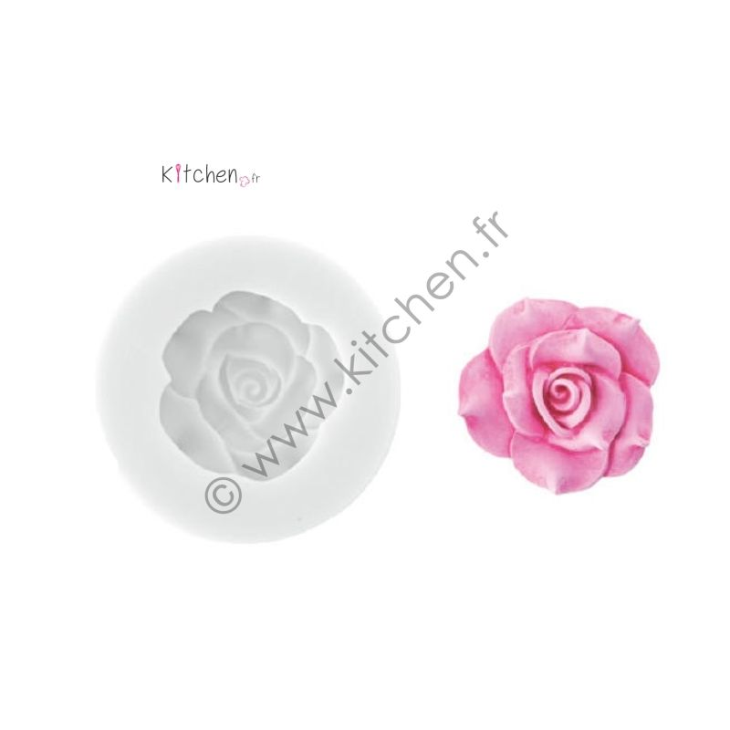 Moule silicone rose ht 33 mm