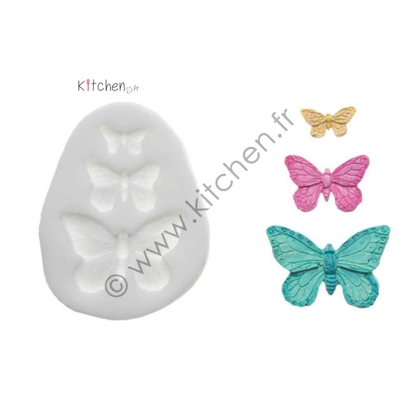 Moule silicone 3 papillons