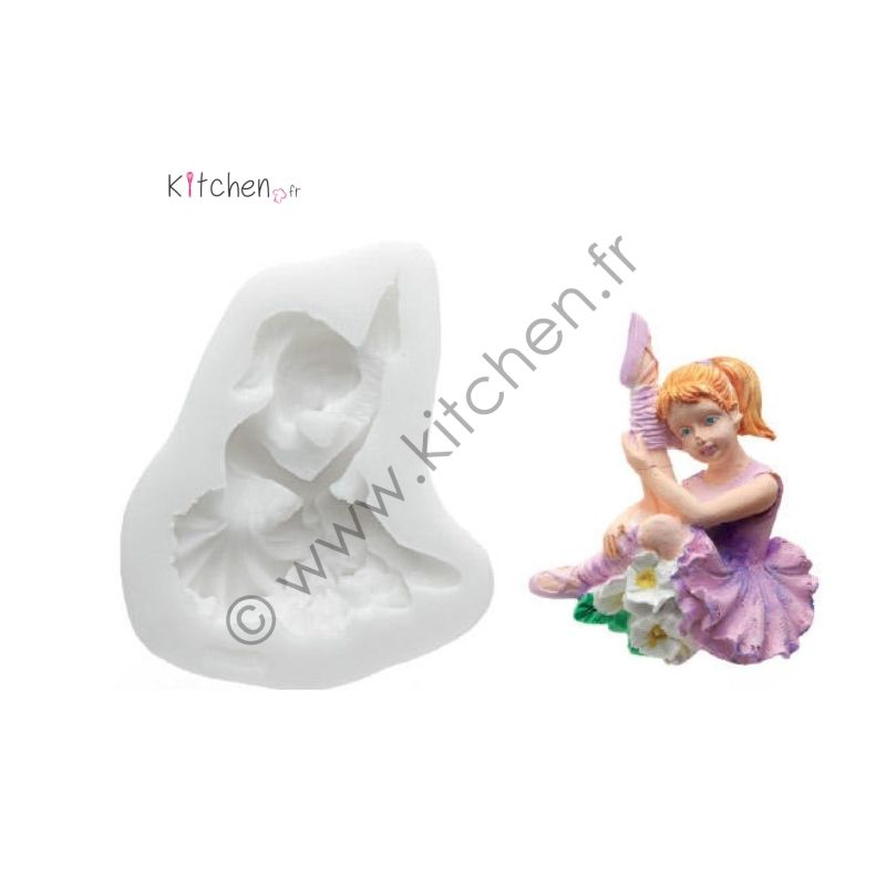 Moule silicone danseuse assise