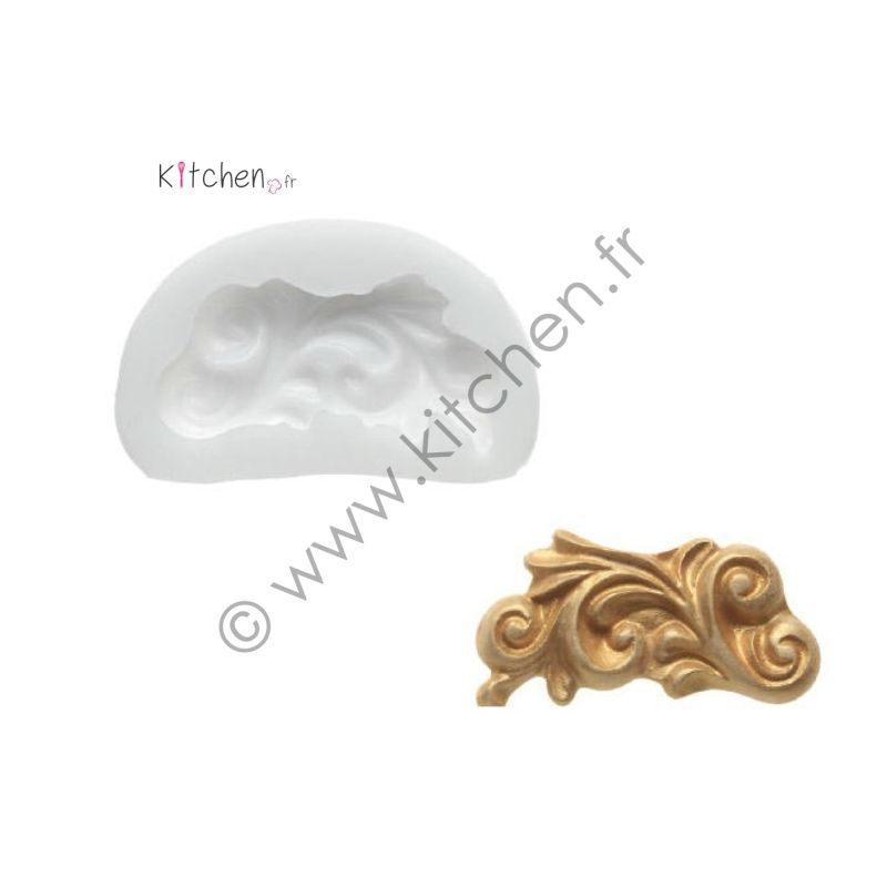 Moule silicone ornement ht 25 mm