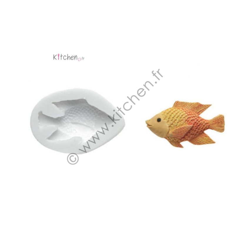 Moule silicone poisson HT 58 mm
