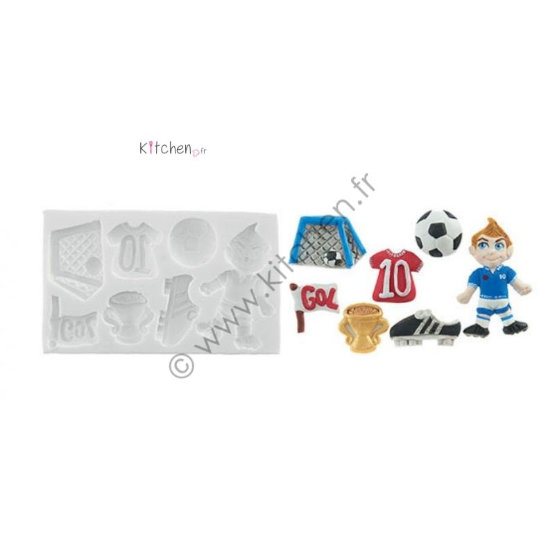 Moule silicone thème football HT 20mm