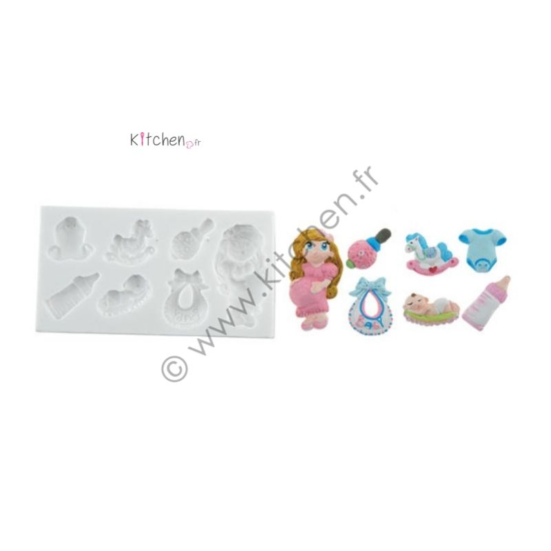 Moule silicone baby shower HT 20mm