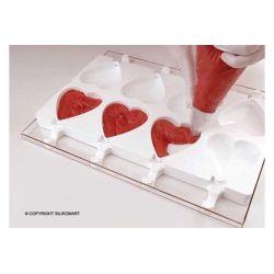 "Moule à glace silicone 8 moules ""coeur"" Stecco Flex"