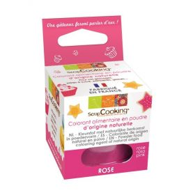 Colorant comestible d'origine naturelle rose