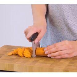 Lame crantée pour découper carottes, courgettes, pommes de terre, etc.
