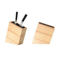 Bloc couteaux de cuisine incliné bois d'hévéa
