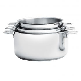 3 Casseroles inox Twisty ⌀16-18-20 cm