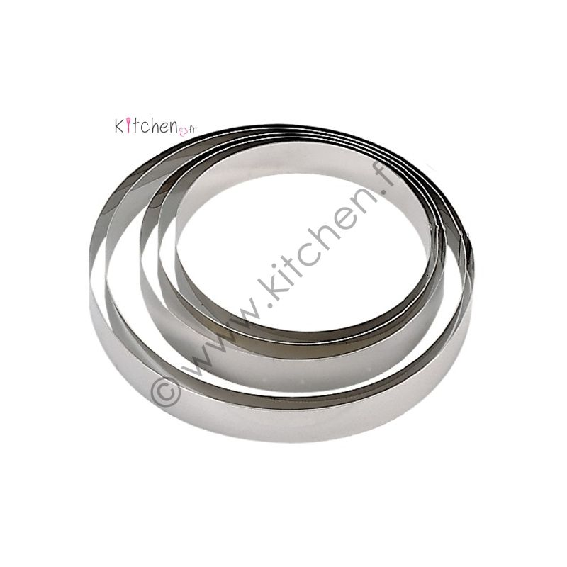 Cercle à pâtisserie Bords Ronds Inox