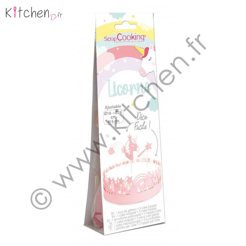 Kit déco gâteau « Licorne »