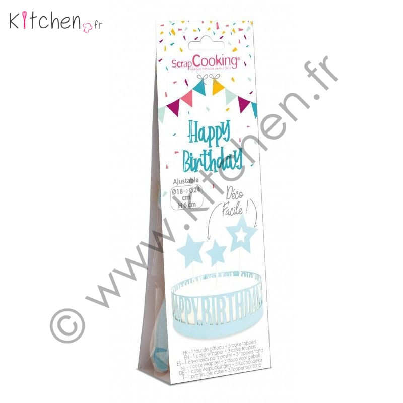 Kit déco gâteau « Happy Birthday »