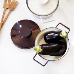 Aromapots couleur noir aubergine 20 cm