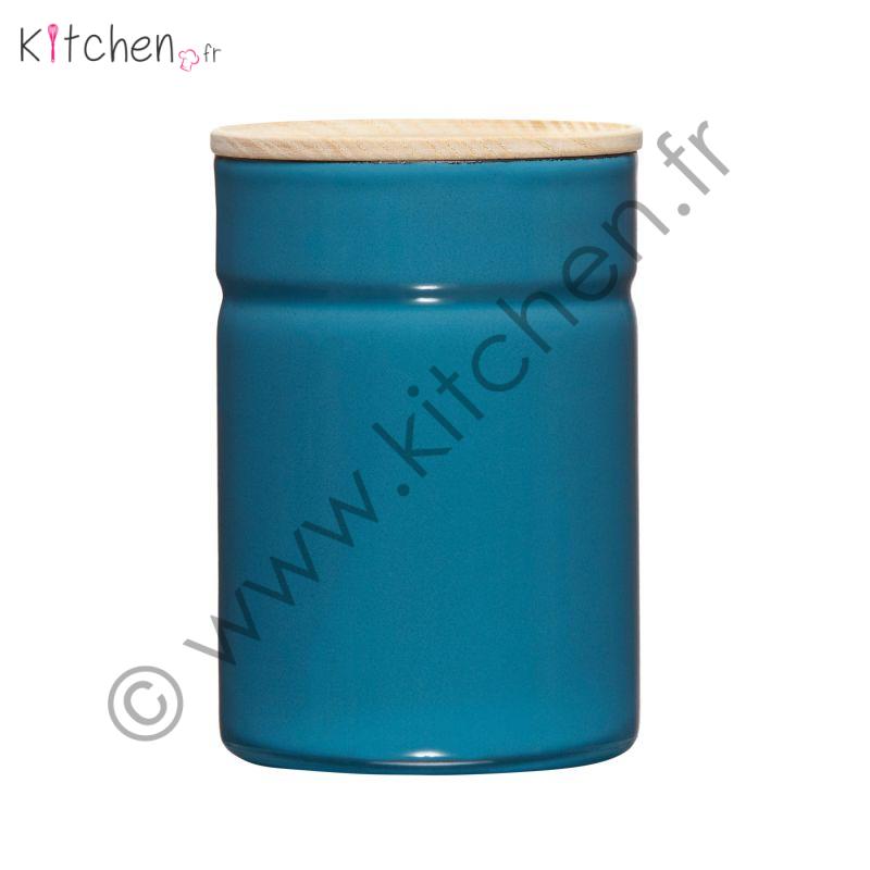 Boîte de conservation en acier émaillé 525 ml bleu