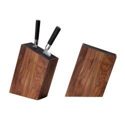 Bloc couteaux de cuisine incliné bois de noyer