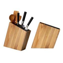 Bloc couteaux et rangement incliné bois de chêne