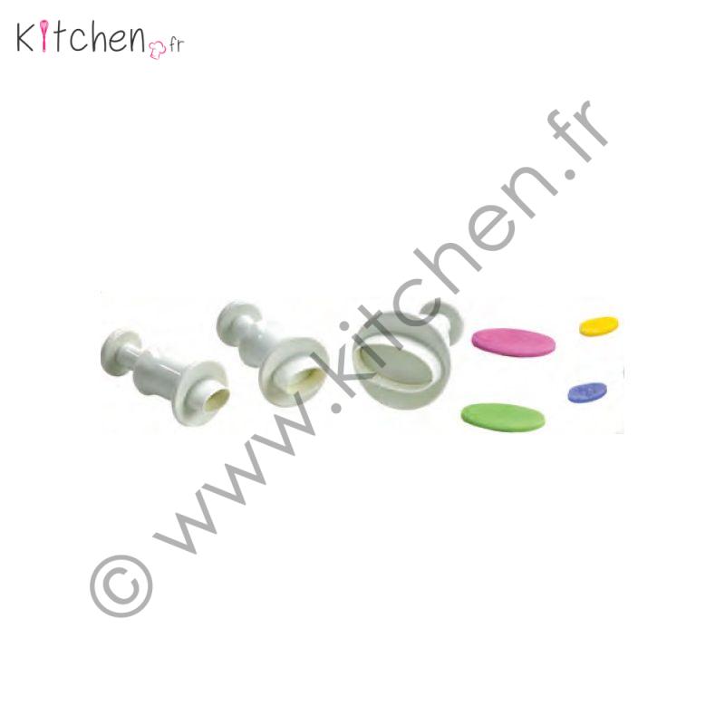 4 emportes pièces éjecteurs ovales