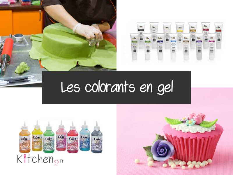 Les colorants en gel colorent facilement vos desserts